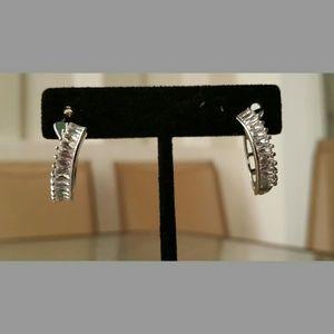 Jewelry - Clear Zircon Hoop Earrings